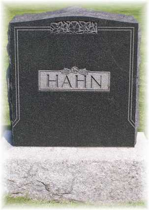 George Hahn - Family - Tombstone